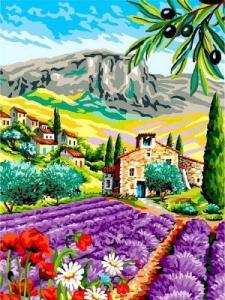 Картины по номерам Город под горой