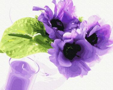 Картины по номерам Фиалковый аромат