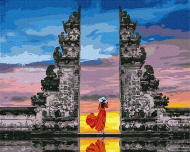 Картины по номерам Путешественница на Бали