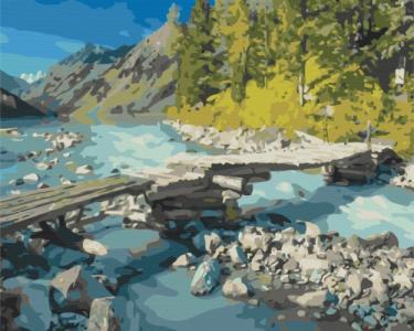 Картины по номерам Горный мостик