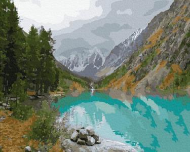 Картины по номерам Вид на горное озеро