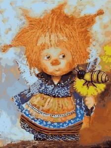 Картины по номерам Солнечный ангел с пчелой