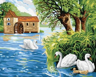 Картины по номерам Лебедине озеро