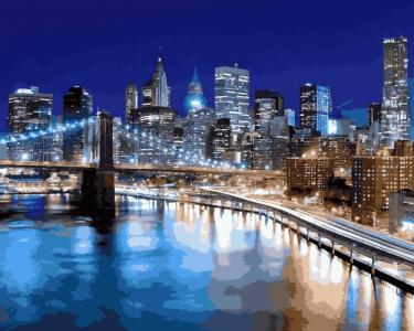 Картины по номерам Огни Нью-Йорка