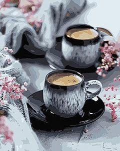 Картины по номерам Кофе на двоих