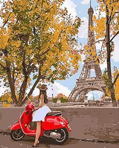 Картины по номерам Впервые в Париже