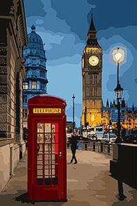 Картины по номерам Вечерний Лондон 2