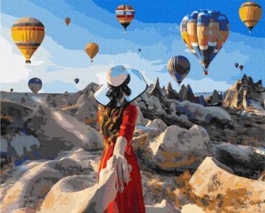 Картины по номерам Путешественница в Каппадокии