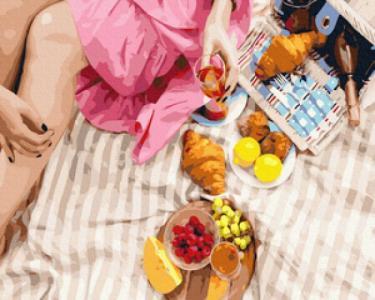 Картины по номерам Вкусности на пикник