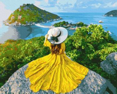 Картины по номерам Девушка-солнце
