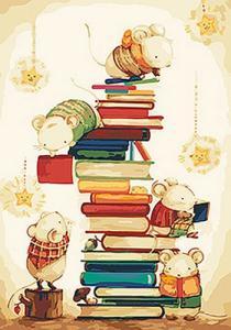 Картины по номерам Маленькие читатели