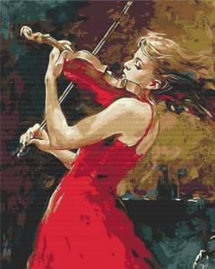 Картины по номерам Девушка со скрипкой