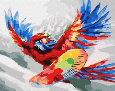 Картины по номерам Яркий попугай