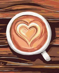 Картины по номерам Любовь в чашке