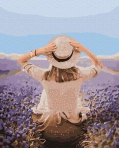 Картины по номерам Путешественница в лавандовом поле