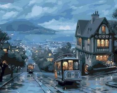 Картины по номерам Ночной трамвай