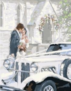 Картины по номерам Поцелуй молодоженов