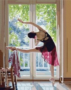 Картины по номерам Растяжка балерины