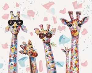 Картины по номерам Веселые жирафы
