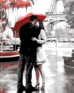 Картины по номерам Поцелуй в Париже