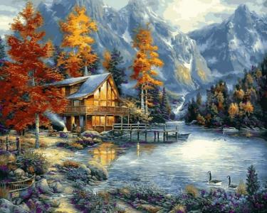 Картины по номерам Осеннее озеро