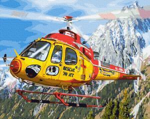 Картины по номерам Вертолет в Альпах