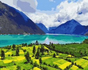 Картины по номерам Горный пейзаж