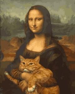 Картины по номерам Монна Лиза с котом