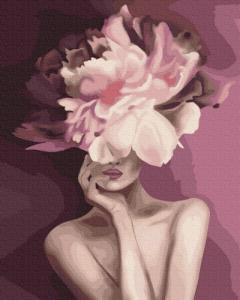 Картины по номерам Пурпурний цветок