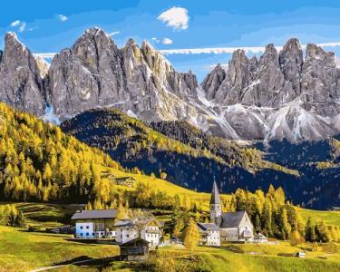 Картины по номерам Заснеженные Альпы