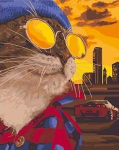 Картины по номерам Дерзкий кот
