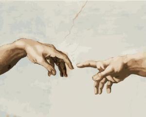 Картины по номерам Создание адама