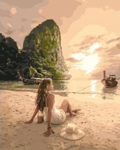Картины по номерам Влюбленная в море
