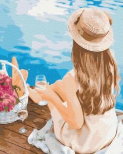 Картины по номерам Мечтательница в шляпке