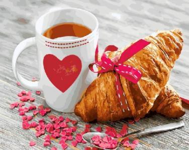 Картины по номерам Завтрак с любовью