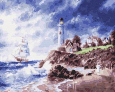 Картины по номерам Маяк на острове