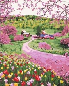 Картины по номерам Весеннее разноцветье
