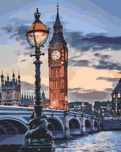 Картины по номерам Лондон в сумерках