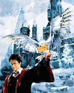 Картины по номерам Гарри Поттер Письмо из Хогвартса