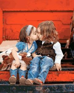 Картины по номерам Первый поцелуй