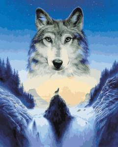Картины по номерам Лунный волк