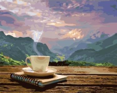 Утро с видом на горы