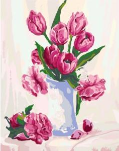 Картины по номерам Нежность в вазе