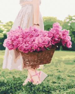 Картины по номерам Весна в корзине