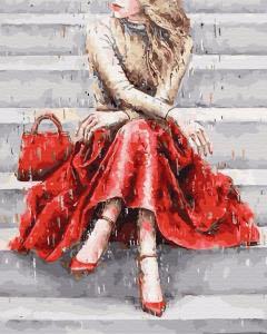 Картины по номерам Цвет настроения: красный