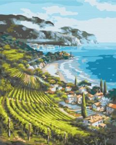 Картины по номерам Приморский поселок