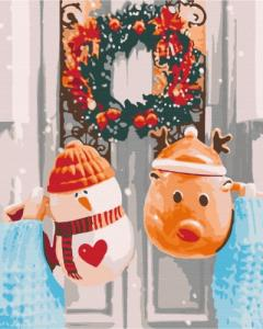 Картины по номерам Рождественское утро