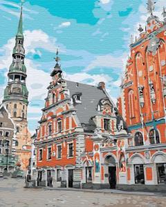 Картины по номерам Тихий город