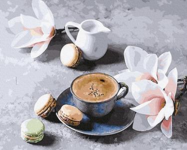 Кава з орхідеями