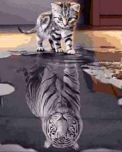 Картины по номерам Душа тигра (MR-Q2181)